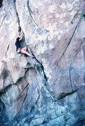 Rock Climbing Photo: Unknown climber leading Clean and Jerk.