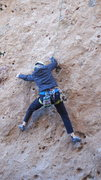 "Rock Climbing Photo: Working the opening moves of ""Rise & Shine.&q..."