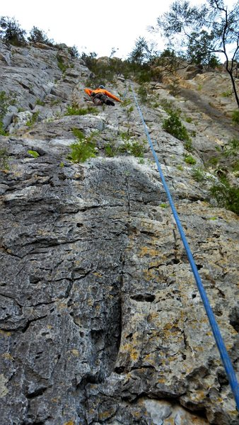 Rock Climbing Photo: The whole route in view