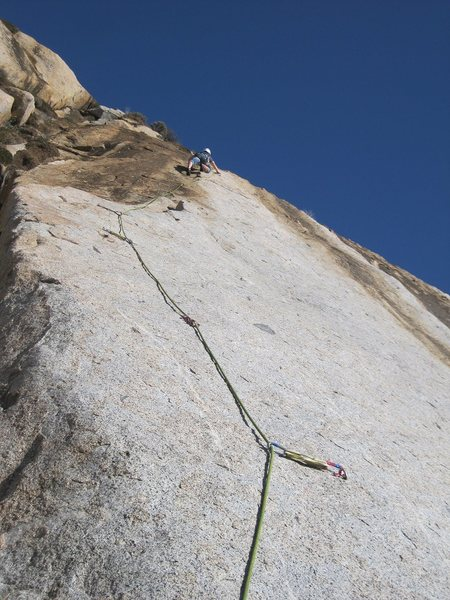 Rock Climbing Photo: Sam on-sights a great route.