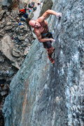 Rock Climbing Photo: Ian Texeira looking strong on Macho Man .12d. Emer...