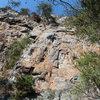 Red Wall<br> <br> SeamStress(5.8)trad<br> <br> Crowders Mountain State Park, North Carolina