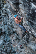 Rock Climbing Photo: Ian Texeira working the mega steep Grail Project ....
