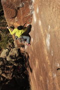 Rock Climbing Photo: Eric Whewell styling the corner on Center Route.