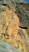 "Rock Climbing Photo: The parallel cracks are the cruxy ""Mirage&quo..."