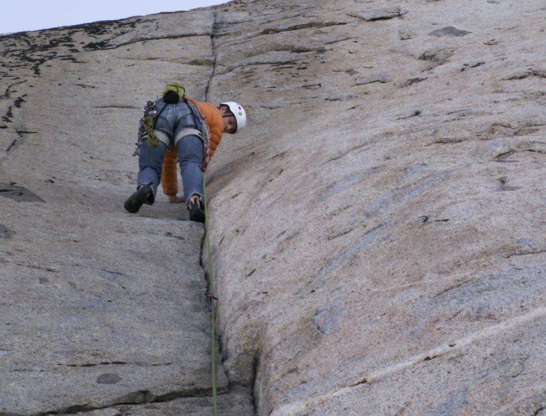 Rock Climbing Photo: a good morning climb