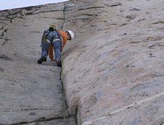 Rock Climbing Photo: a good morning climb
