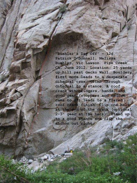 Rock Climbing Photo: basic topo