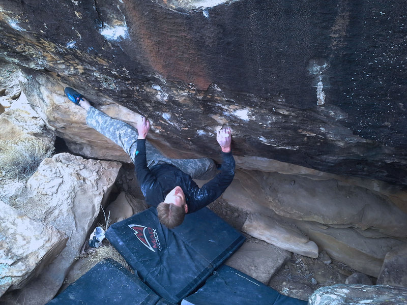 Rock Climbing Photo: Jared pulling through the crux on Surgical Procedu...