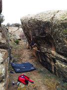 Rock Climbing Photo: Keenan on Mono Pocket Rocket.