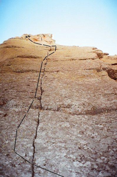 Rock Climbing Photo: A committing line