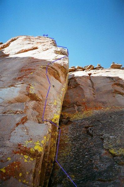 Rock Climbing Photo: Super short approach to this tough little bitch