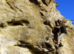 Rock Climbing Photo: Fun midsection to Hinge Indirect