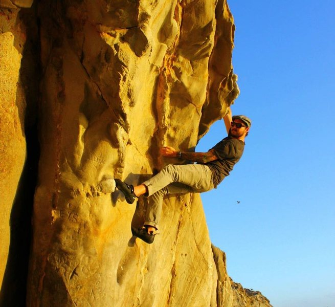 Rock Climbing Photo: Moving through the crux of Not Even