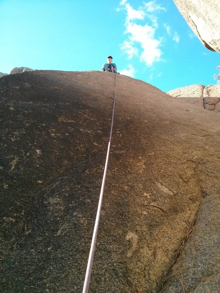 Rock Climbing Photo: An image of Walk Softly taken from the bottom of t...