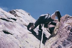 Rock Climbing Photo: The second pitch dihedral.