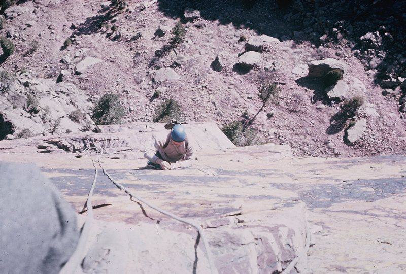 Rodger, following/cleaning the route.