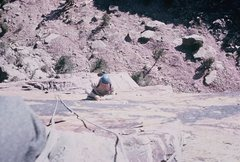 Rock Climbing Photo: Rodger, following/cleaning the route.