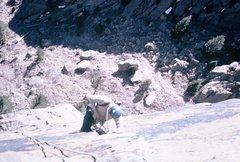 Rock Climbing Photo: Moving up...