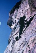 """Rock Climbing Photo: The last lead...we only thought is """"just 5.9 ..."""