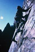 Rock Climbing Photo: Bob moving up...