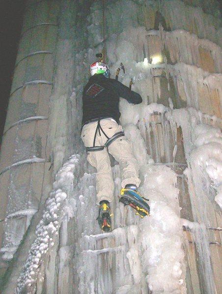 night ice climb