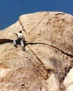 Rock Climbing Photo: Anne on a successful climb of Black Eye, Trash can...