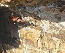 Rock Climbing Photo: Tobacco Road, 5.12b Summersville WV