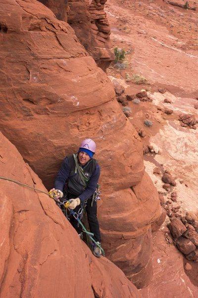 Rock Climbing Photo: Stu jumaring pitch 1