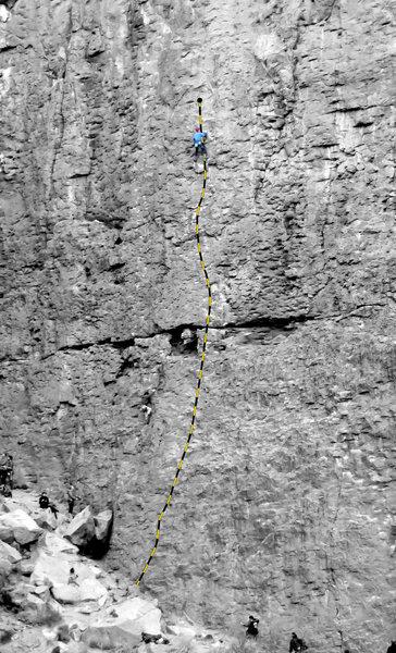 Rock Climbing Photo: Heart of the Sun (5.9), Great Wall of China, Owens...