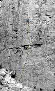 Rock Climbing Photo: Heart of the Sun (5.9), Great Wall of China, Owens...