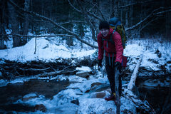 Rock Climbing Photo: Saco river crossing on approach to Shoestring Gull...