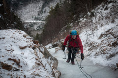 Rock Climbing Photo: Second pitch on Shoestring Gully, Mt. Webster (WI2...
