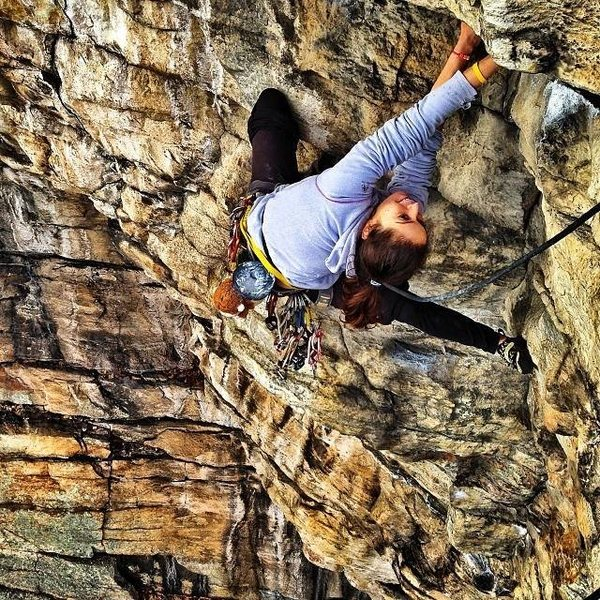 Rock Climbing Photo: Tedi Setton on Feast of Fools P1