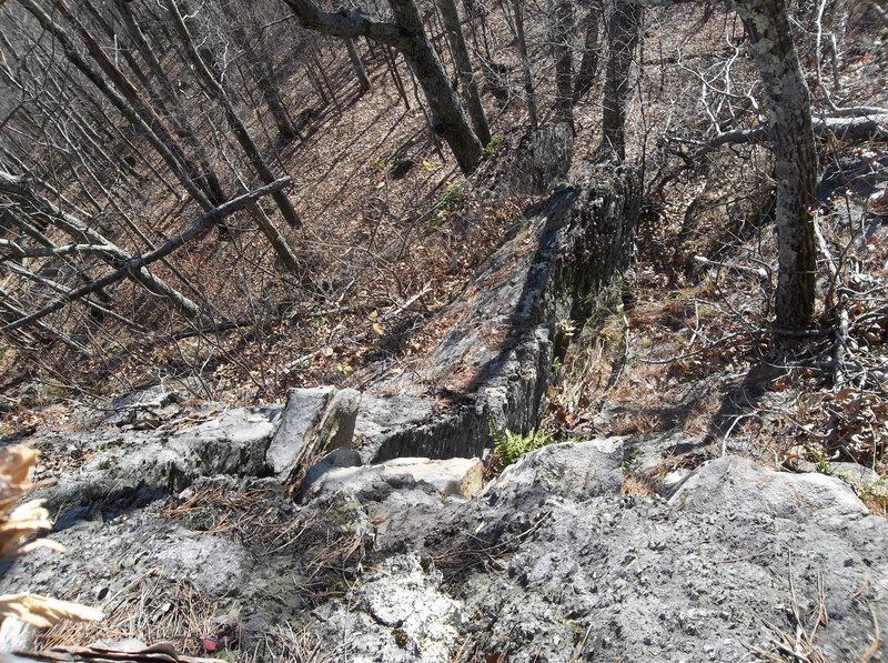Rock Climbing Photo: Three way tie
