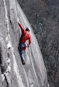Rock Climbing Photo: Will about to get into the steep on upper part of ...