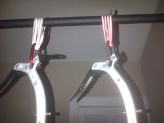 Rock Climbing Photo: ice tools on pullup bar