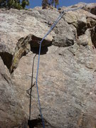 Rock Climbing Photo: The crux area, at about the second visible bolt.