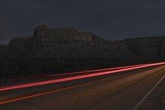 Rock Climbing Photo: Potash road at night