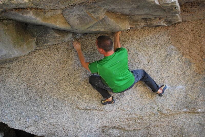 Rock Climbing Photo: Matt Wallace under the roof on We Who Wander