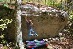 Rock Climbing Photo: Tim Armstrong snags the sloping jug on The Shutdow...