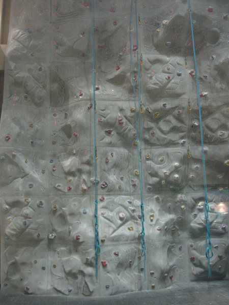 A view of the climbing wall aboard the US Navy installation in the Juffair section of Manama, Bahrain.