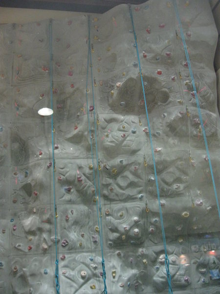 Another view of the climbing wall at the US Navy facility in the Juffair portion of Manama, Bahrain.