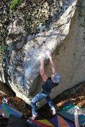 Rock Climbing Photo: Emmanuel Hudon works a project left of The Elimina...