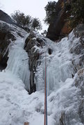 Rock Climbing Photo: Little step, when the ice thickens you can also he...