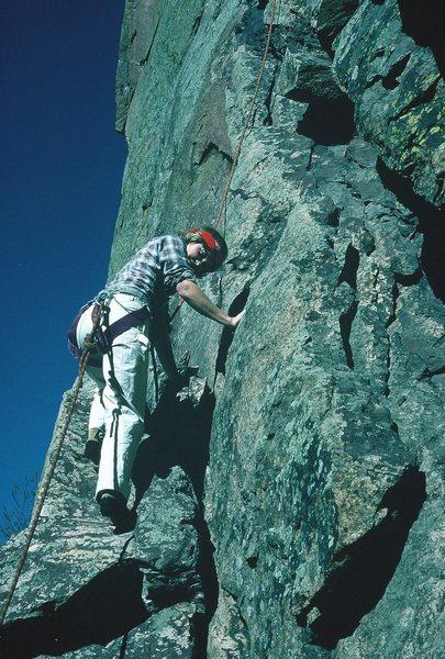 C'est la Morte (5.9), Eldorado Canyon, 1985.