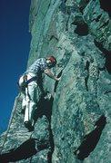 Rock Climbing Photo: C'est la Morte (5.9), Eldorado Canyon, 1985.