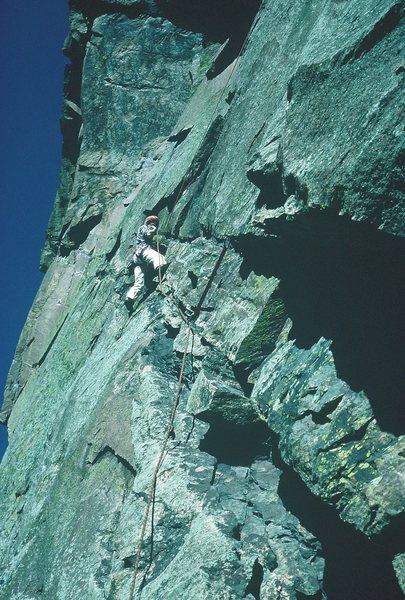 Rock Climbing Photo: C'est la Morte, Eldorado Canyon, 1985.