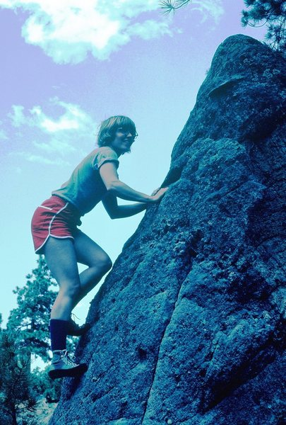 Rock Climbing Photo: On the Flagstaff boulders; sometime around 1982...