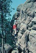 Rock Climbing Photo: Anne on Flagstaff...